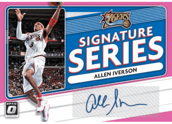 2020 21 Panini Donruss Optic Basketball Signature Series Pnik Allen Iverson