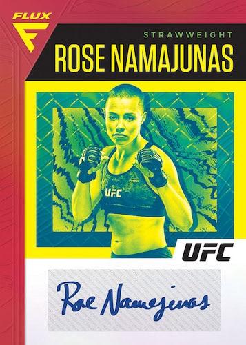 2021 Panini Chronicles UFC Cards Base Flux Signatures Rose Namajunas auto
