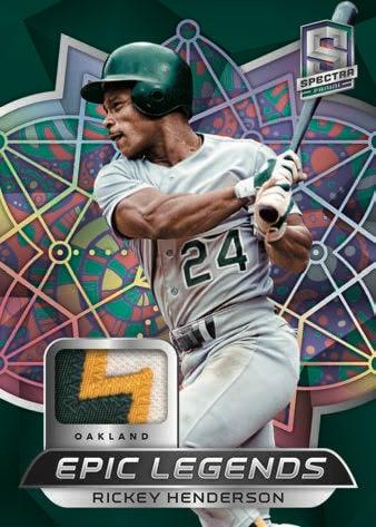 2021 Panini Spectra Baseball Cards Epic Legends Materials Rickey Henderson