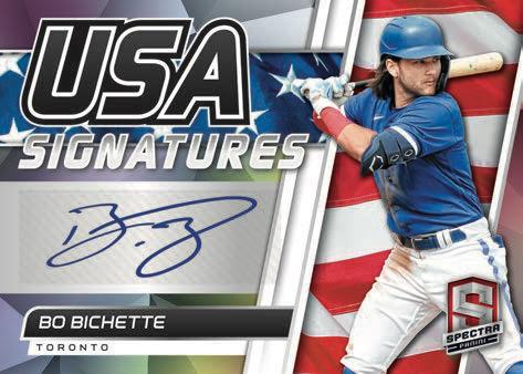 2021 Panini Spectra Baseball Cards USA Signatures Bo Bichette