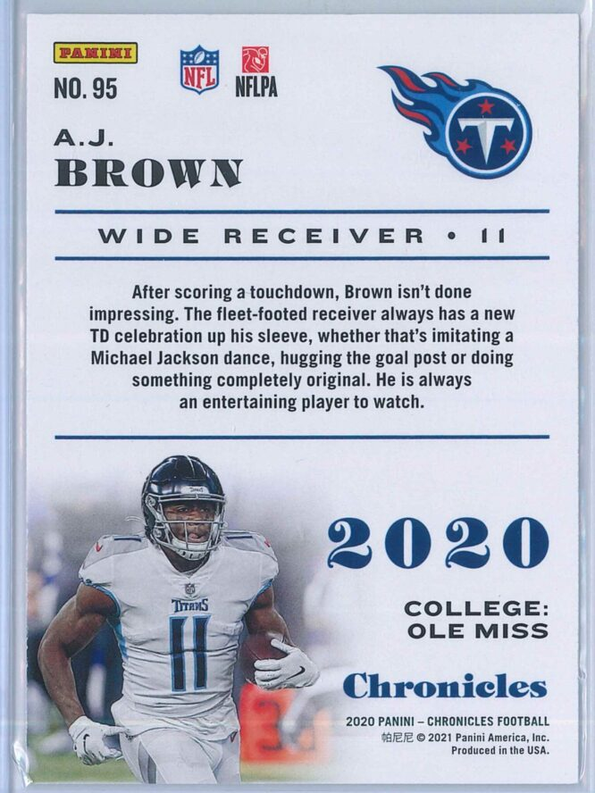 A.J. Brown Panini Chronicles Football 2020 Base 2