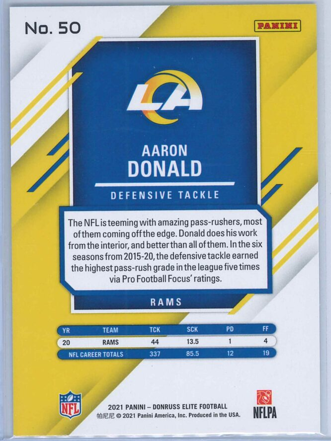 Aaron Donald Panini Donruss Elite Football 2021 Base 2