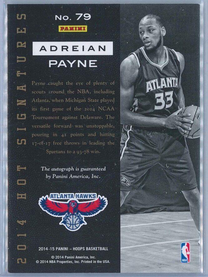 Adreian Payne Panini NBA Hoops 2014 15 Hot Signatures RC Auto 2