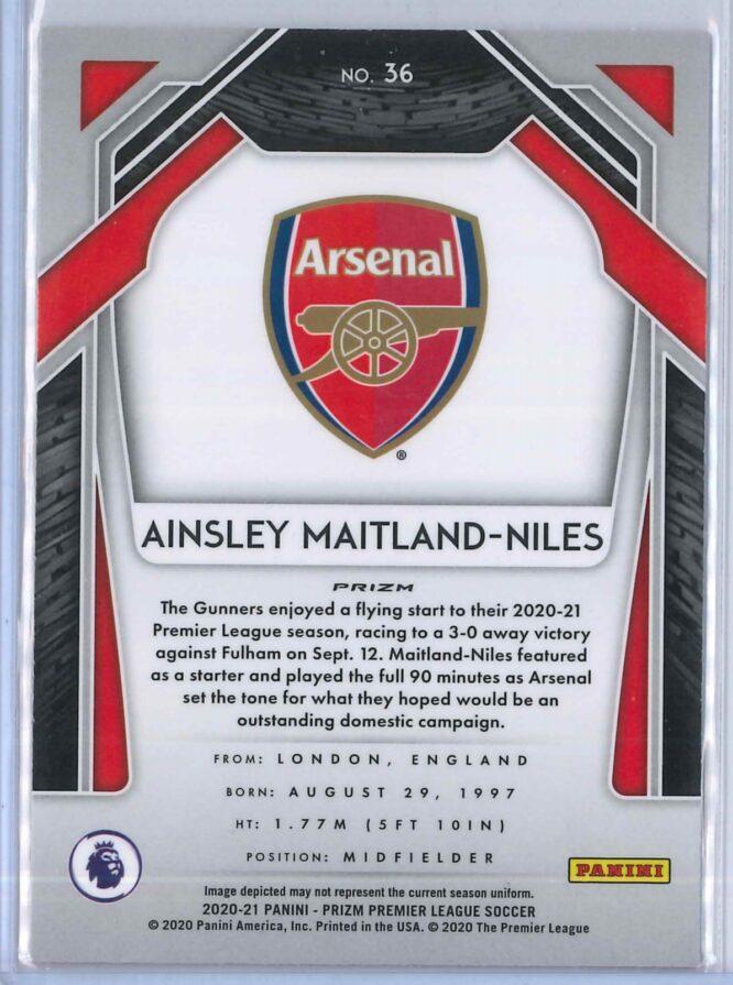 Ainsley Maitland Niles Panini Prizm Premier League Soccer 2020 21 Base Breakaway Prizm 2