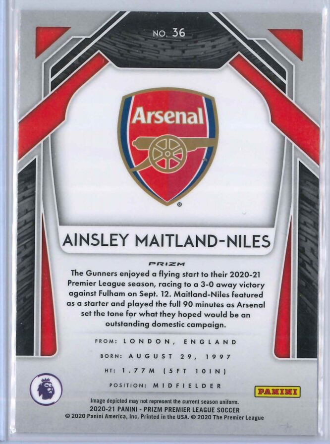 Ainsley Maitland Niles Panini Prizm Premier League Soccer 2020 21 Base Silver Prizm 2