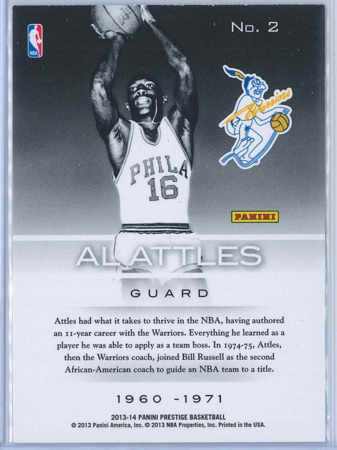 Al Attles Panini Prestige Basketball 2013 14 Prestigious Pioneers 2