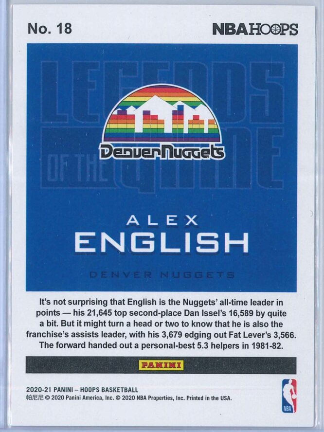 Alex English Panini NBA Hoops 2020 21 Legends Of The Game 132699 2