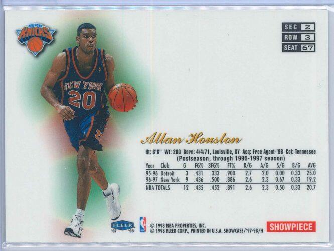 Allan Houston Fleer Flair Showcase 1997 98 2