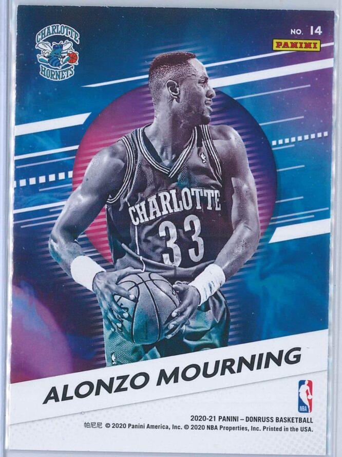 Alonzo Mourning Panini Donruss Basketball 2020 21 Retro Series 2
