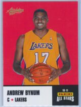 Andrew Bynum Panini Absolute Memorabilia 2010-11 Panini All Stars
