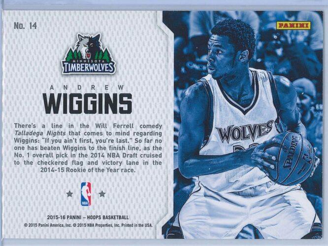Andrew Wiggins Panini NBA Hoops Basketball 2015 16 End 2 End 2