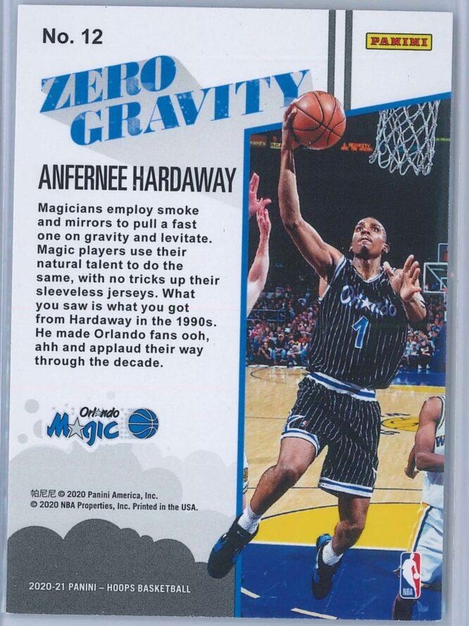 Anfernee Hardway Panini NBA Hoops 2020 21 Zero Gravity 2
