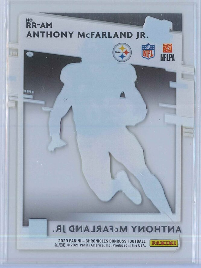 Anthony McFarland Jr. Panini Chronicles Football 2020 Clearly Donruss Rated Rookie 2