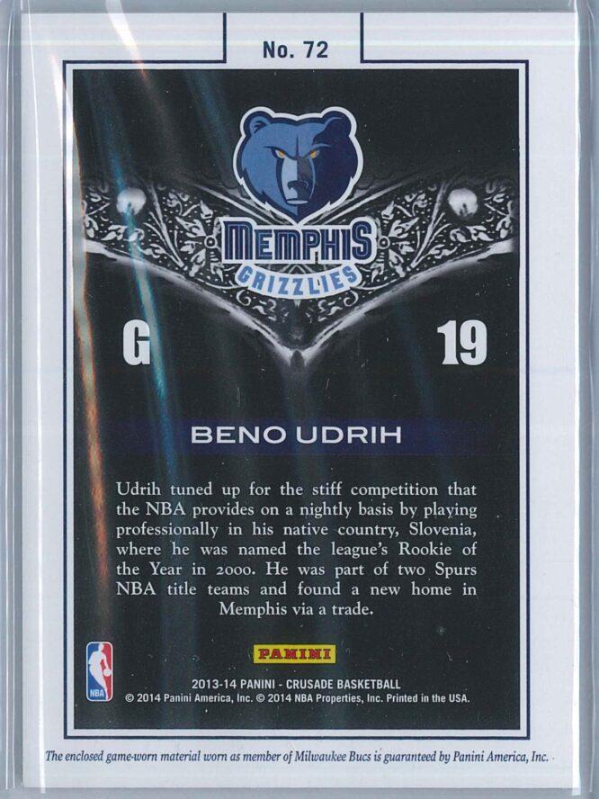 Beno Udrih Panini Crusade Basketball 2013 14 Majestic 2