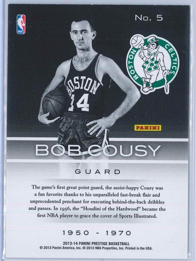 Bob Cousy Panini Prestige Basketball 2013 14 Prestigious Pioneers 2