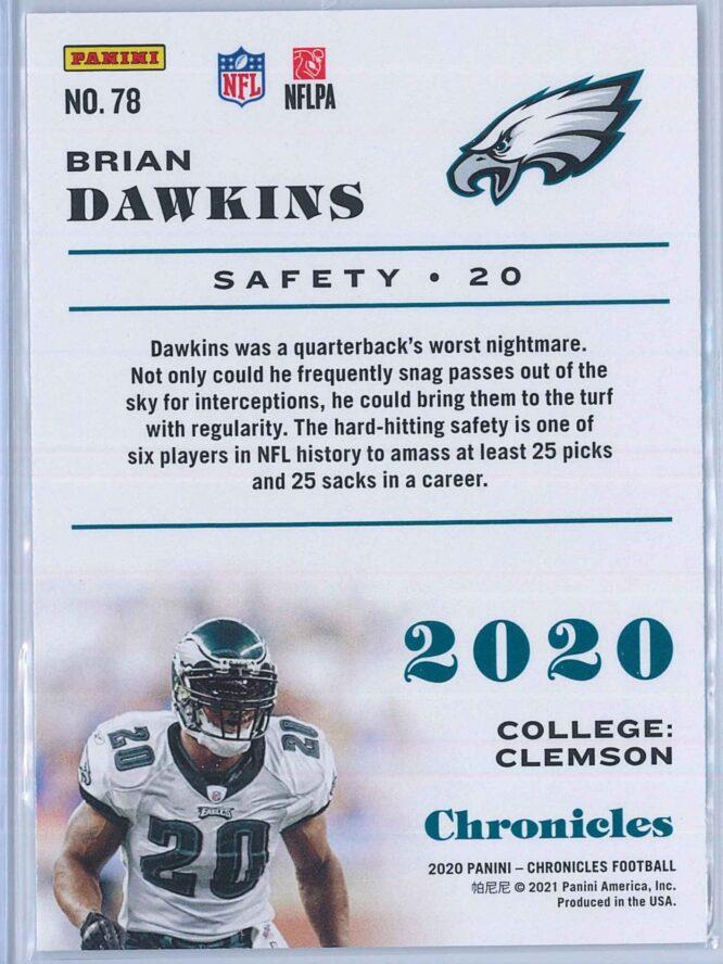 Brian Dawkins Panini Chronicles Football 2020 Base 2