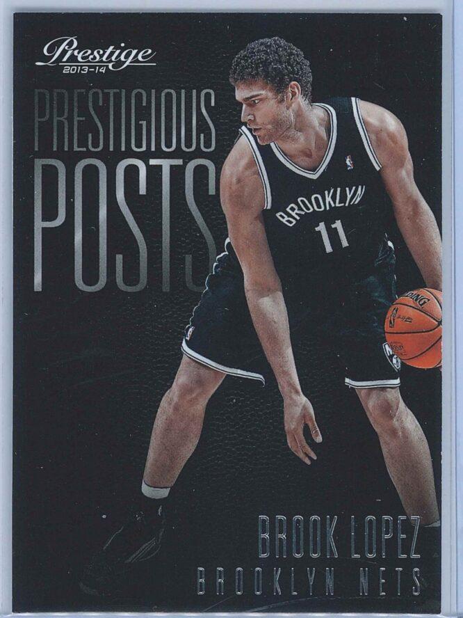 Brook Lopez Panini Prestige Basketball 2013-14 Prestigious Posts