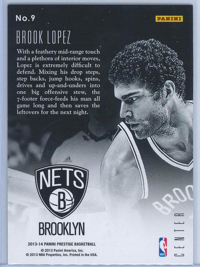 Brook Lopez Panini Prestige Basketball 2013 14 Prestigious Posts 2