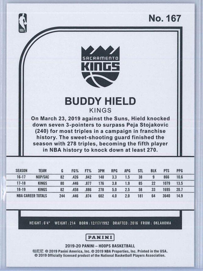 Buddy Hield Panini NBA Hoops 2019 20 Purple 2