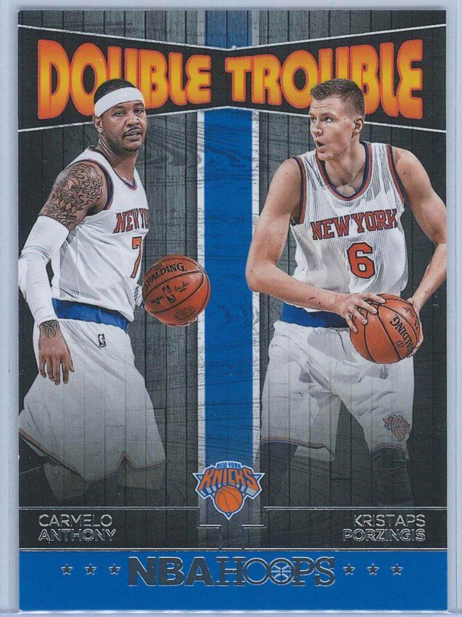Carmelo Anthony - Kristaps Porzingis Panini NBA Hoops Basketball 2016-17 Double Trouble