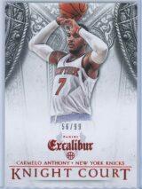 Carmelo Anthony Panini Excalibur Basketball 2014 15 Knight Court Orange 5699 1
