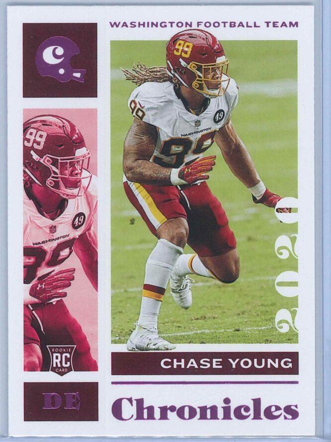 Chase Young Panini Chronicles Football 2020 Base Pink RC