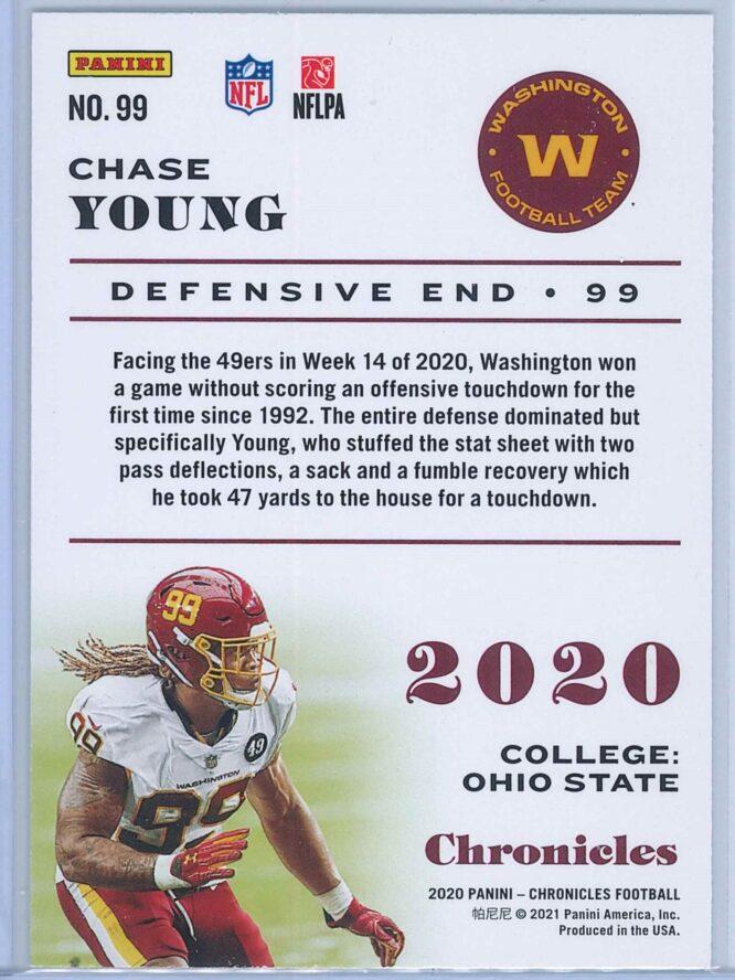 Chase Young Panini Chronicles Football 2020 Base Pink RC 2