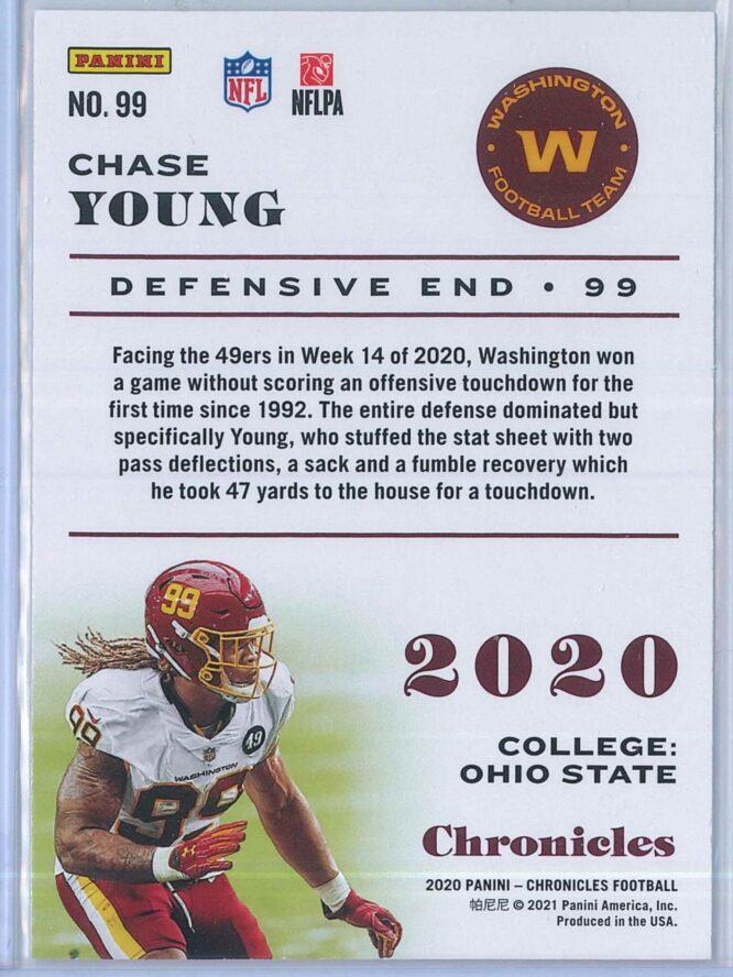 Chase Young Panini Chronicles Football 2020 Base RC 2