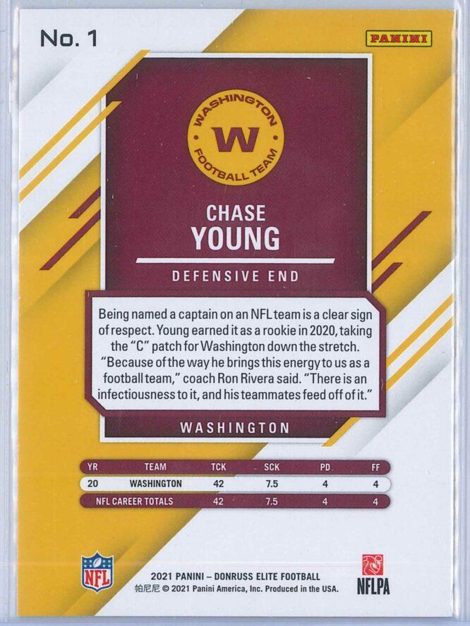 Chase Young Panini Donruss Elite Football 2021 Base 2