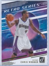 Chris Webber Panini Donruss Basketball 2020-21 Retro Series   Press Proof