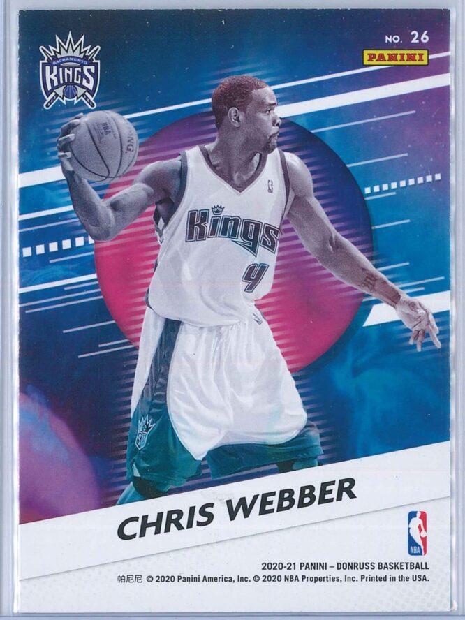 Chris Webber Panini Donruss Basketball 2020 21 Retro Series Press Proof 2