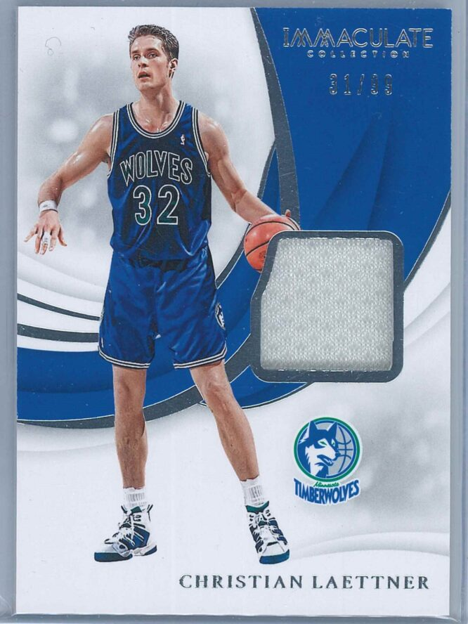 Christian Laettner Panini Immaculate Basketball 2018 19 Swatches 3199 1