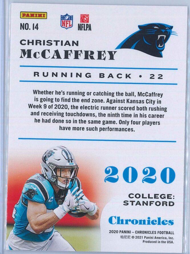 Christian McCaffrey Panini Chronicles Football 2020 Base 2