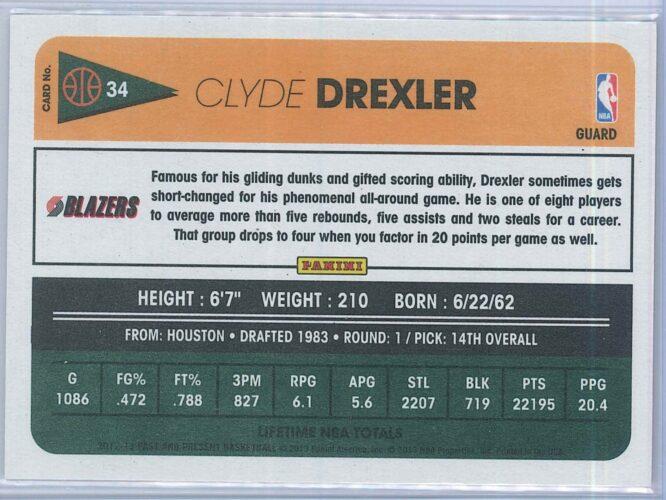 Clyde Drexler Panini Past And Present Basketball 2012 13 Base 2