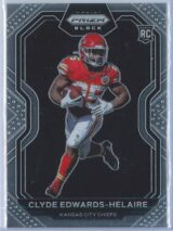 Clyde Edwards Helaire Panini Chronicles Football 2020 Prizm Black RC