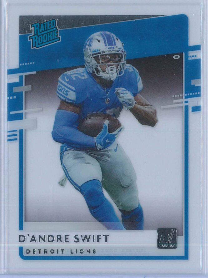 D'Andre Swift Panini Chronicles Football 2020 Clearly Donruss  Rated Rookie
