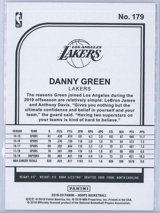 Danny Green Panini NBA Hoops 2019 20 Red 6775 2
