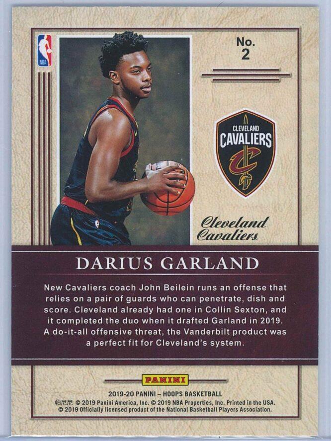 Darius Garland Panini NBA Hoops 2019 20 Class of 2019 Holo 2