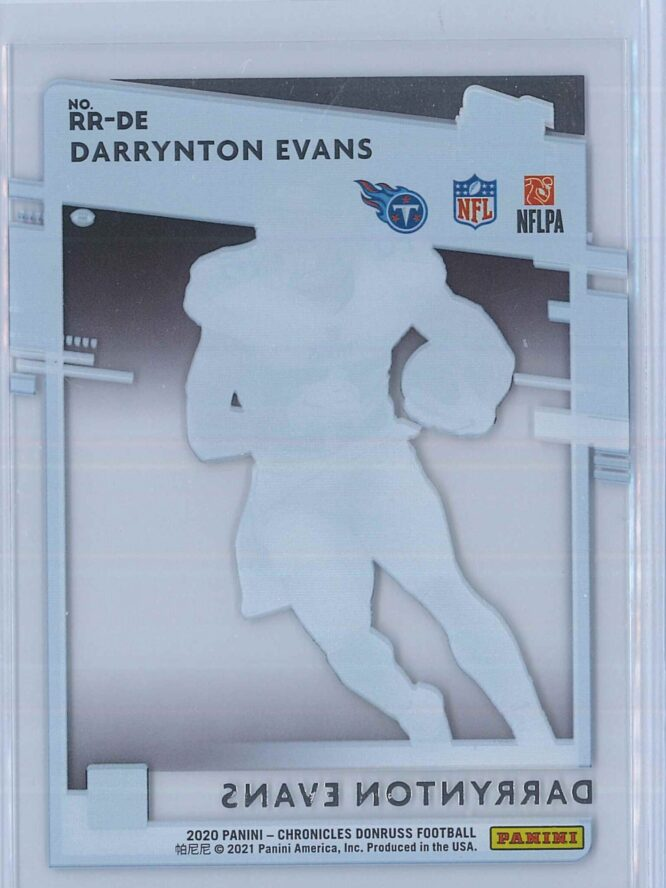 Darrynton Evans Panini Chronicles Football 2020 Clearly Donruss Rated Rookie 2