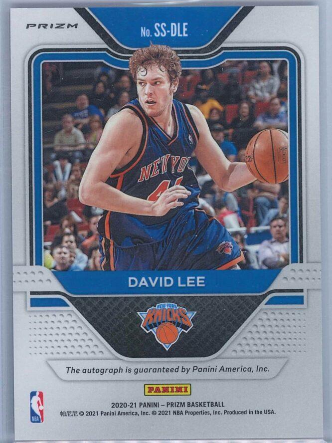David Lee Panini Prizm Basketball 2020 21 Sensational Signatures Red Choice Prizm Auto 2
