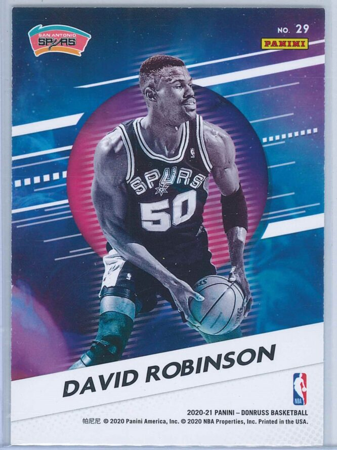 David Robinson Panini Donruss Basketball 2020 21 Retro Series Press Proof 2