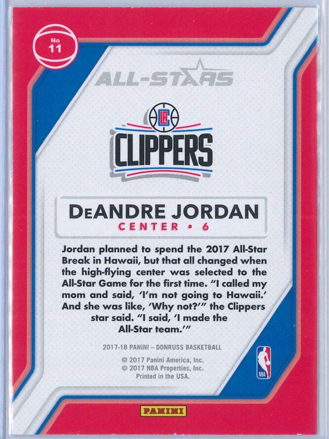 DeAndre Jordan Panini Donruss Basketball 2017 18 All Stars 2
