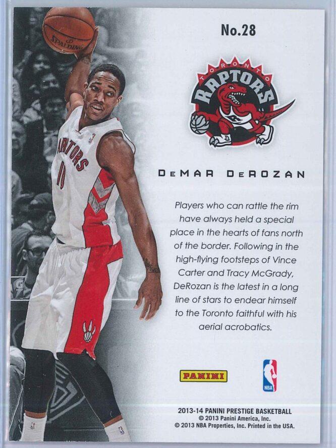 DeMar DeRozan Panini Prestige Basketball 2013 14 Franchise Favorites 2