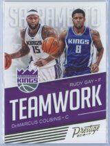 DeMarcus Cousins - Rudy Gay Panini Prestige Basketball 2016-17 Teamwork
