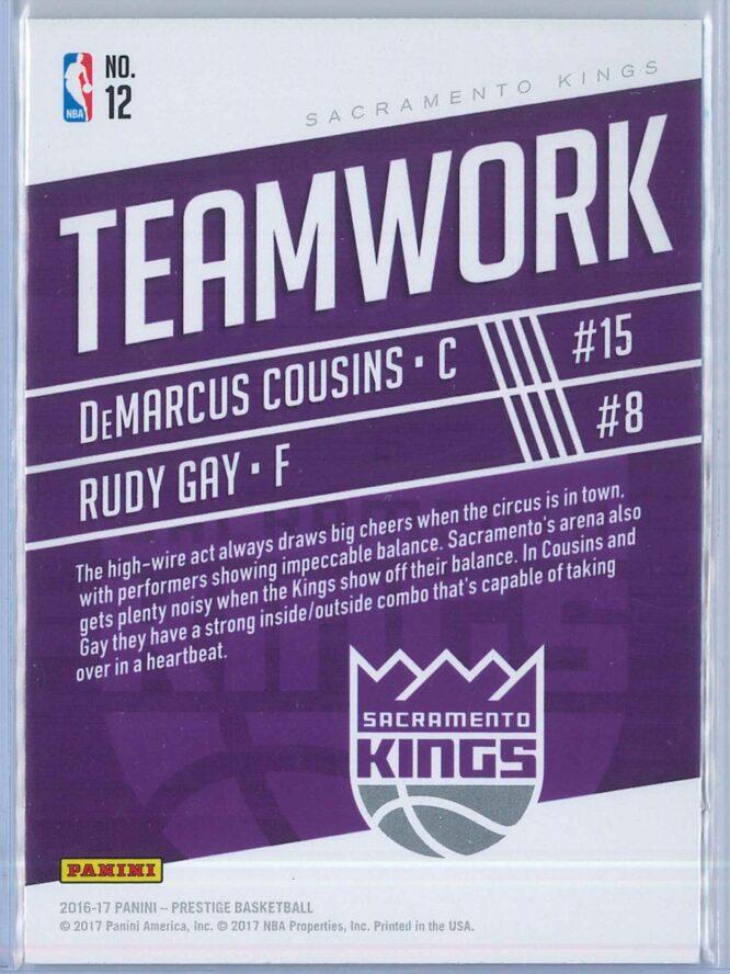 DeMarcus Cousins Rudy Gay Panini Prestige Basketball 2016 17 Teamwork 2