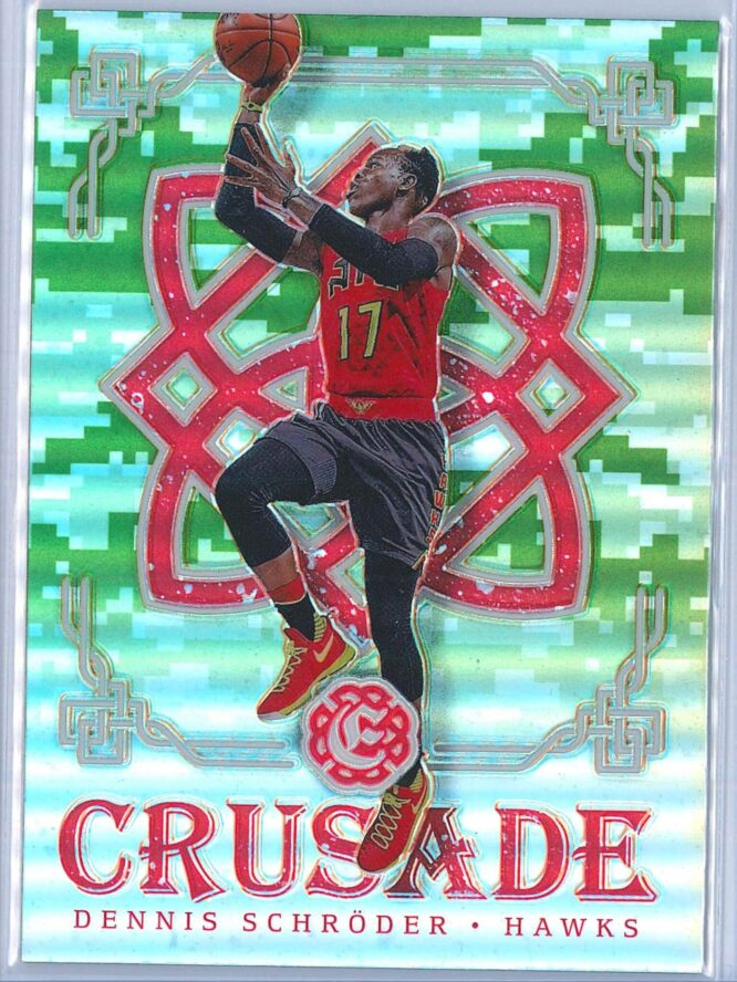 Dennis Schroder Panini Excalibur Basketball 2016-17 Crusade Camo