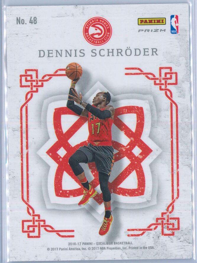 Dennis Schroder Panini Excalibur Basketball 2016 17 Crusade Camo 2