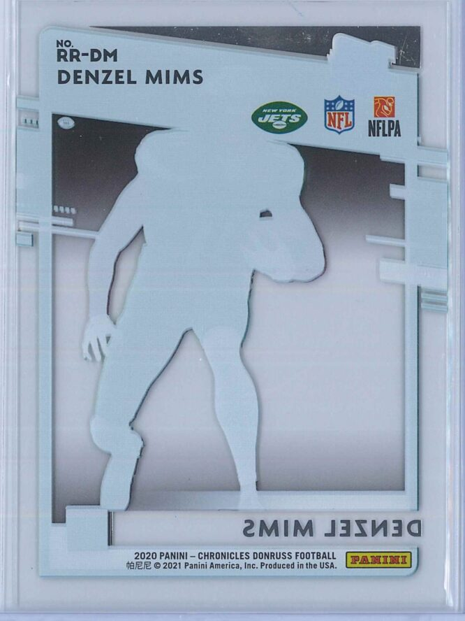 Denzel Mims Panini Chronicles Football 2020 Clearly Donruss Rated Rookie 2