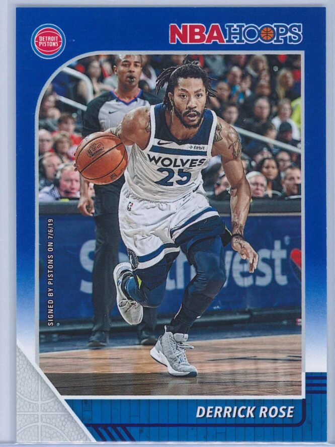 Derrick Rose Panini NBA Hoops 2019-20  Blue