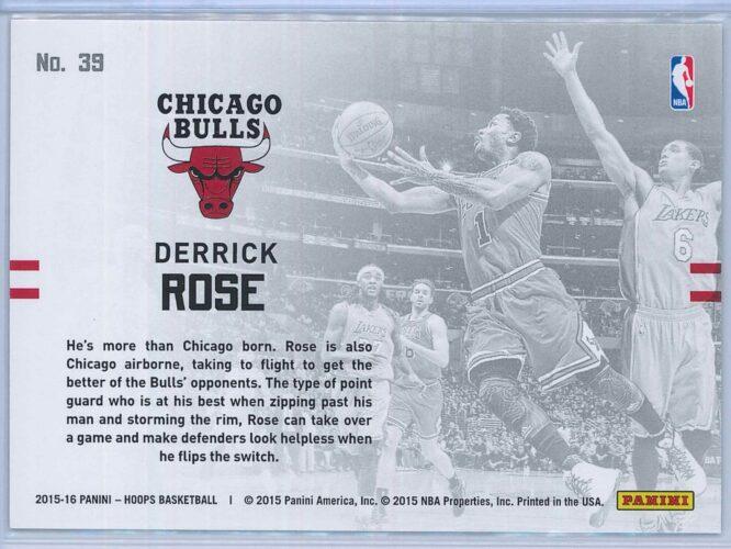 Derrick Rose Panini NBA Hoops Basketball 2015 16 Lights Camera Action 2